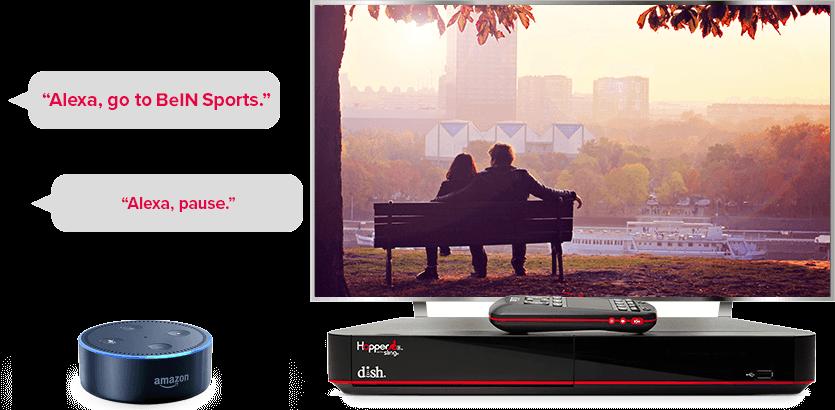 TV manos libres de DISH - Controla tu TV con Alexa de Amazon - DALTON, GA - SENAL SATELITE INC - Distribuidor autorizado de DISH